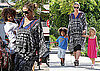 Photos of Heidi Klum And Her Kids Going To Karate Class in LA