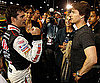 Slide Photo of Tom Cruise with Jeff Gordon at a NASCAR Event