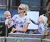 Slide Photo of Naomi Watts With her Sons at the Park