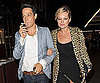 Slide Photo of Kate Moss, Jamie Hince at Dinner in London with Kate Wearing Leopard Print Jacket