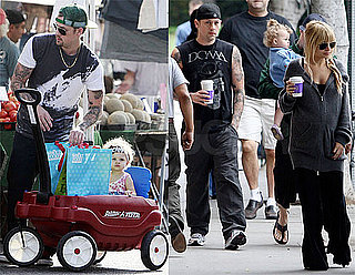 Photos of Nicole Richie, Joel Madden, Benji Madden, Harlow Madden After Sparrow's Birth