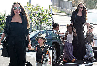 Photos of Angelina Jolie, Shiloh Jolie-Pitt, Zahara Jolie-Pitt, Pax Jolie-Pitt in France