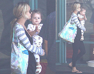 Photos of Nicole Richie And Harlow Madden Leaving a LA Baby Gym Without New Son Sparrow