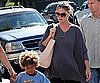 Slide Photo of Heidi Klum Taking Henry to Karate Class in LA