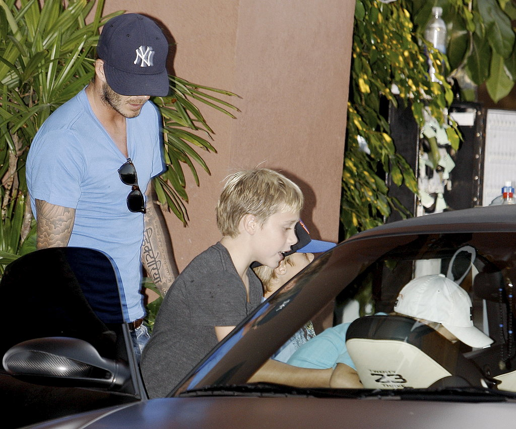 Photos of David Beckham with His Boys