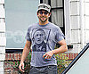 Slide Photo of Bradley Cooper Wearing Obama T-Shirt in LA