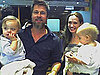 Slide Photo of Brad Pitt and Angelina Jolie with Knox and Vivienne in Jordan