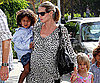 Slide Photo of Heidi Klum Taking Henry, Leni and Johan To Karate Class