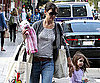 Slide Photo of Katie Holmes and Suri Cruise Walking in Boston