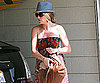 Slide Photo of Rebecca Gayheart Covering Her Stomach With Purse in LA