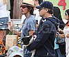 Slide Photo of Leonardo DiCaprio Wearing Baseball Hat at LA Market