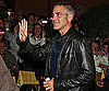 Slide Photo of George Clooney in Italy Wearing Leather