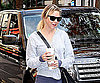 Slide Photo of Renee Zellweger Carrying Coffee in Paris