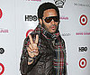 Slide Photo of Lenny Kravitz Showing a Peace Sign at Screening of Good Hair