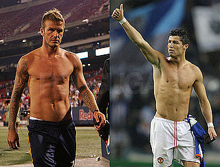 Shirtless Photos of David Beckham, Cristiano Ronaldo New Face of Armani Underwear