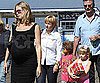 Slide Photo of  Pregnant Heidi Klum At the Santa Monica Pier