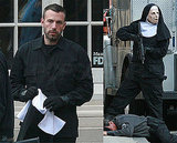 Photos of Ben Affleck in a Mask on the Set of The Town in Boston 2009-10-07 08:33:57