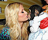 Slide Photo of Paris Hilton Kissing a Monkey