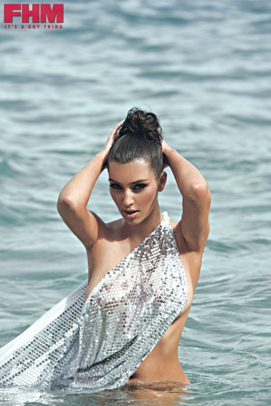Photos of Kim Kardashian in FHM