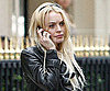 Slide Photo of Lindsay Lohan Talking on Phone in Paris