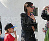 Slide Photo of Victoria Beckham and Romeo At School Event in LA