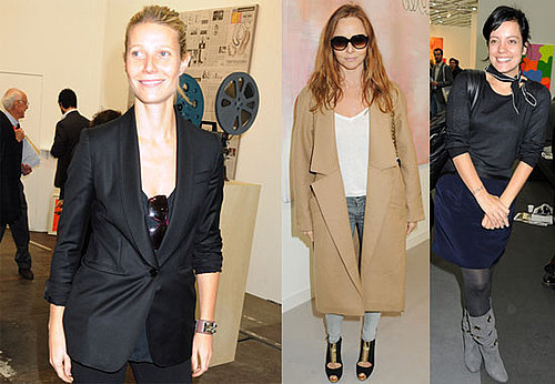 Photos of Gwyneth Paltrow, Stella McCartney, Lily Allen, Eva Herzigova, Valentino Garavani, Jay Jopling at the Frieze in London