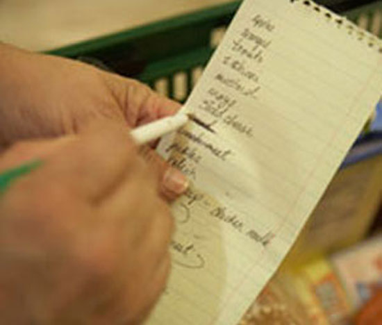 Take a List to the Grocery Store