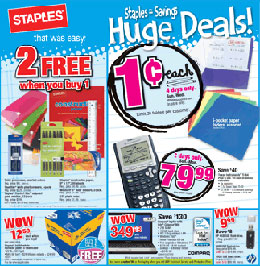Penny Deals on Supplies at Staples and Office Max