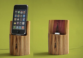 Wooden Cedar iPhone and iPod Dock From Etsy