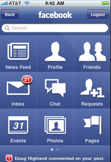 The New Facebook iPhone App Design