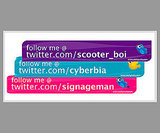 "Twitter ""Follow Me"" Stickers"