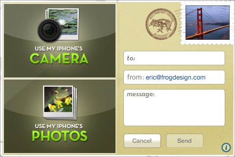 Postcard Express iPhone App Sends Digital Postcards