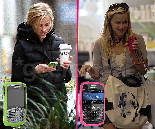 Reese Witherspoon With Her BlackBerry Cell Phones