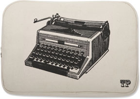 Thomas Paul Luddite Typewriter Print Laptop Sleeve For Sale