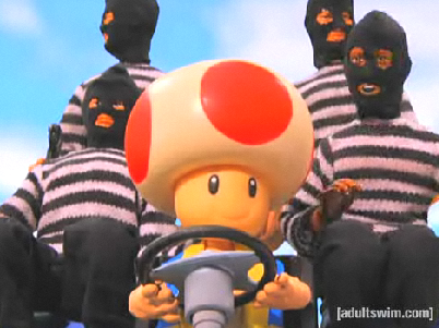 Adult Swim's Robot Chicken Satirizes Toad and Mario Kart For Funny Video