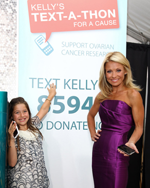 Kelly Ripa Kicks Off a Text-a-Thon For Ovarian Cancer Awareness Month