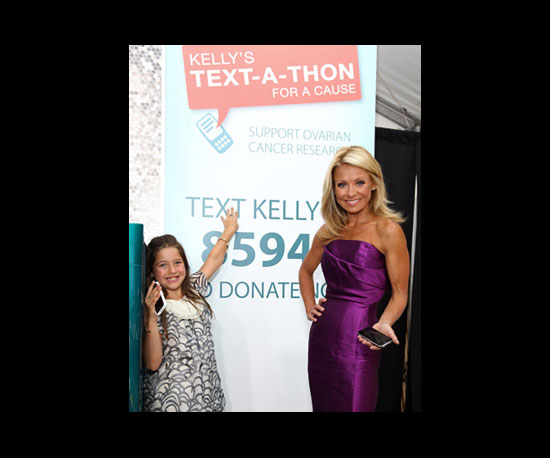 Kelly Ripa Kicks Off a Text-a-Thon