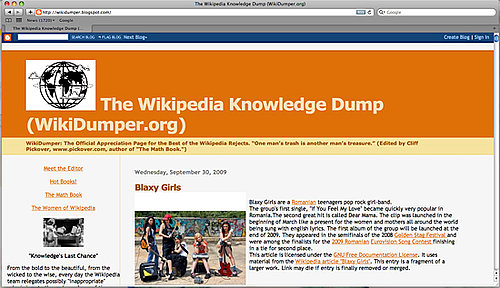 Website of the Day: WikiDumper