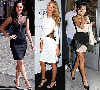 Photo of Megan Fox, Blake Lively, and Rihanna Wearing Mesh Insert Dresses