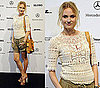 Diane Kruger Attends Berlin Fashion Week in Cargo Shorts and Crochet Top