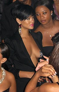 Rihanna Wears Star-Shaped Pasties and Black Blazer at Fourth of July Party
