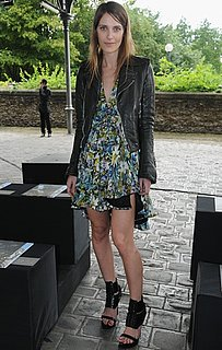 Photo of Vanessa Traina Wearing Floral Dress at Givenchy 2009 Fall Couture Show