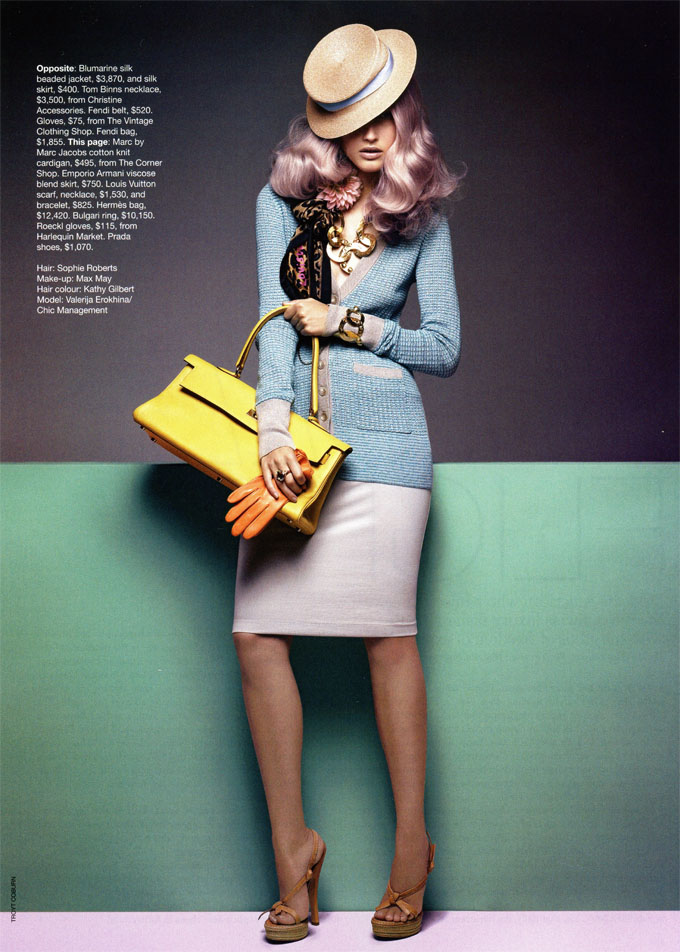 Girls on Film: Valerija Erokhina, Vogue Australia, May '09