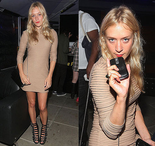 Chloe Sevigny Attends the BlackBerry Tour Launch Party in NYC in Nude Dress and Buckle Shoes