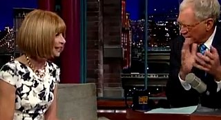 Video of Anna Wintour on The Late Show with David Letterman