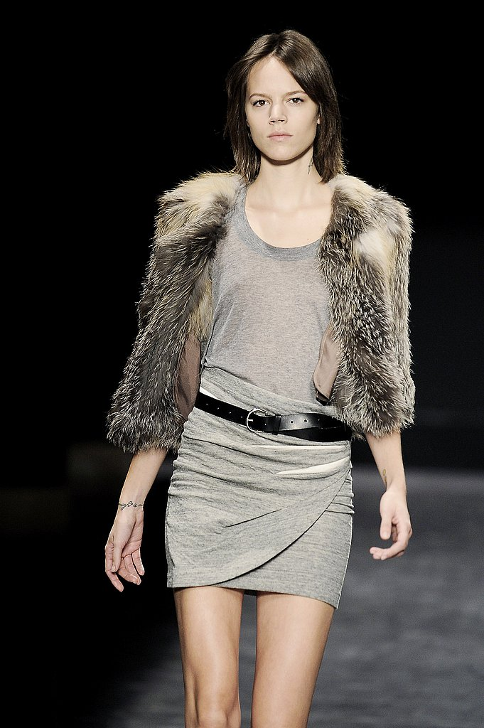 Isabel Marant's Perfectly Draped Heather Gray Mini (and Chubby Vest)