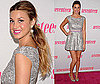Whitney Port Attends a Seventeen Magazine Party in a Silver Metallic Dress