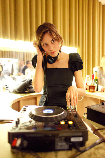 Alexa Chung DJs at Miu Miu