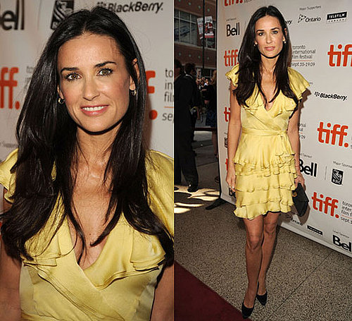 Photo of Demi Moore in Yellow Dress at 2009 Toronto Film Festival