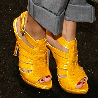 Photos of Celebrities Wearing Hot Shoes at New York Fashion Week